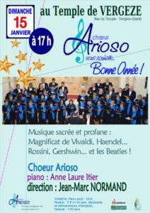 Vergeze Janvier 2017 - Concert du Chœur Arioso