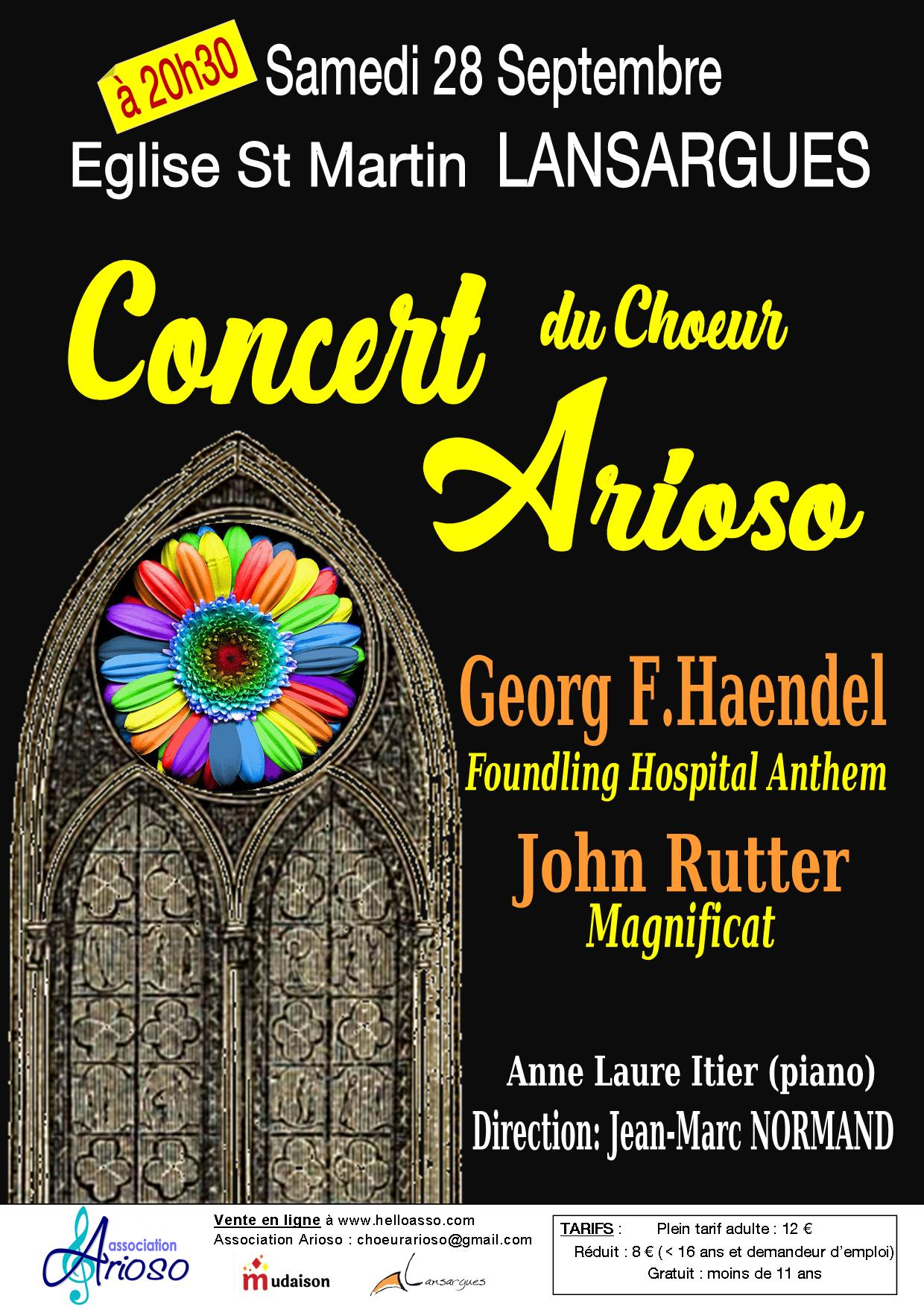 Concert Haendel-Rutter Lansargues